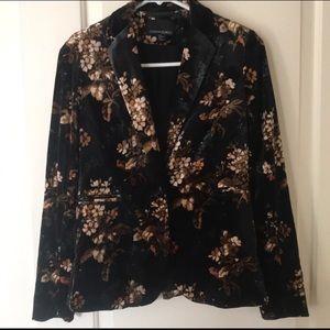 Velvet Floral Blazer- BRAND NEW